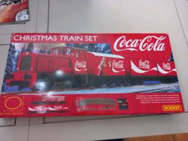 Coca-Cola Christmas train set hornby
