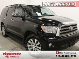 2016 Toyota Sequoia Limited  - one owner - local - $345.22 B/W
