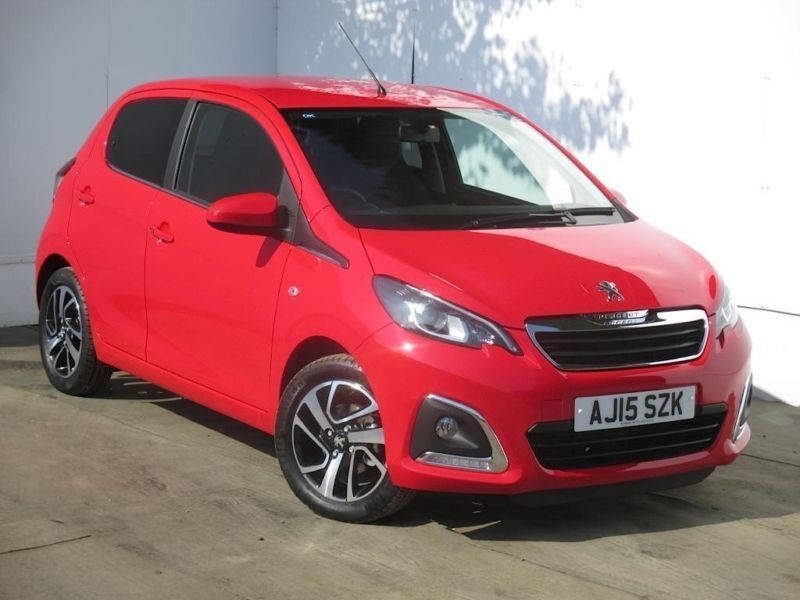 2015 peugeot 108 108 1 2 vti allure 5dr petrol red manual in cambridge cambridgeshire gumtree. Black Bedroom Furniture Sets. Home Design Ideas