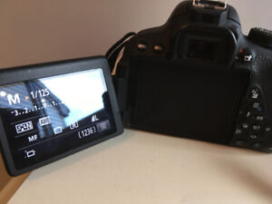 Canon EOS Rebel T5i with kit lens and telephoto lens