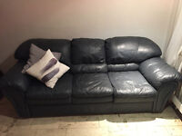Real Leather Couch, Excellent Condition!!