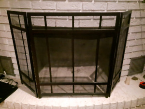 Black Metal Fire Place Grate