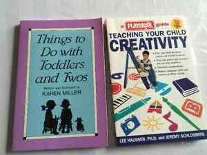 2 books on play and creativity with your toddlers and preschool
