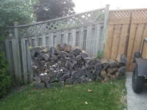 Chopped firewood ready for pickup