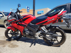 Red and Black 2008 Honda CBR 125CC