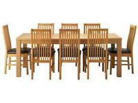 EXTENDING DINING TABLE. HEMSLEY. BRAND NEW IN BOX. COST £299 IN ARGOS. **NO CHAIRS**