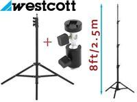 Westcott 8-Feet Professional Light Stand with Flash Speedlight Bracket - Sturdy & Lightweight Design