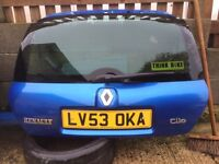 Renault Clio 172 cup sport boot lid tailgate mondial blue wiper motor badge