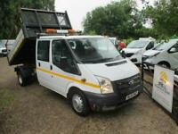 2014 FORD TRANSIT TDCI DOUBLE CAB TIPPER NO VAT 120K NICE CLEAN TIPPER