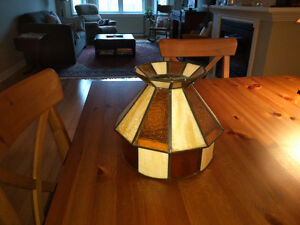 Stained glass hanging lampshade
