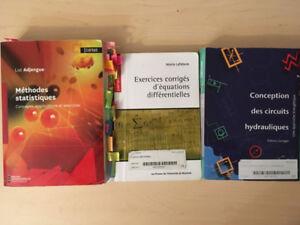 Livres Statistique, Équation différentielle et système hydrauli