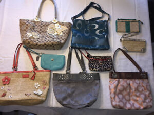 Authentic Coach purses and clutches