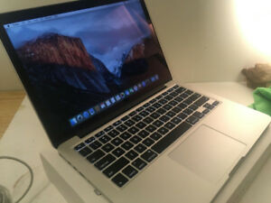 "2014 Macbook Pro 13"" Retina - i5 2.6, 8gb, 256gb ssd, warranty"