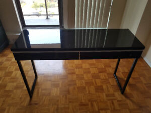 Desk (black gloss finish with chair)
