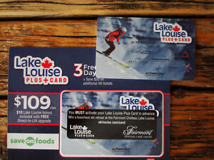 Lake Louise 3 free days and additional used card thrown in will