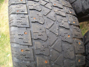 P205/55/R16  snow tires( studded)(FOR SALE)