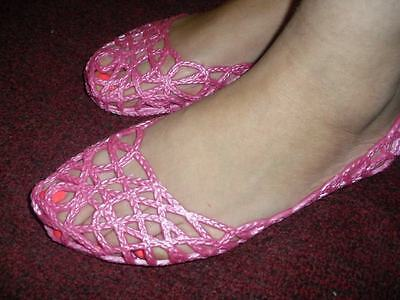 - New ZigZag Jelly Shoes For Woman, Hot Pink. Many Sizes