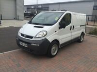 vauxhall vivaro 2005 1.9dci, 6 speed manual, mot and tax, power windovs, twin sliding door