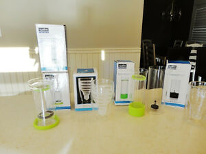 6 Assorted NEW Tea Diffuser, Wine Decanter, Dbl. Wall Beer Glass