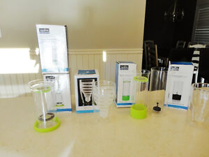 6 Assorted NEW Tea Diffuser, Wine Decanter, Dbl. Wall Beer Glass Kitchener / Waterloo Kitchener Area image 1
