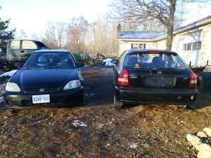 2 Honda civic hatchbacks for sale