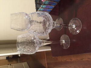 3 beautiful crystal tea light candle holders