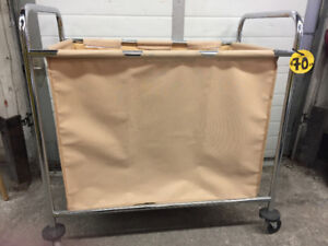 Fabric Cart Laundry with Wheels - 22x36x36