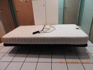 Lit simple électrique XL  articlulé haut de gamme OKIN. Single X