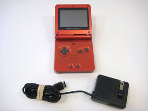 ***RED NINTENDO GAMEBOY ADVANCE SP + MANY GAMES FOR SALE!***