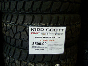 LT35x12.50R20 Mickey Thompson Baja ATZP Tires $500