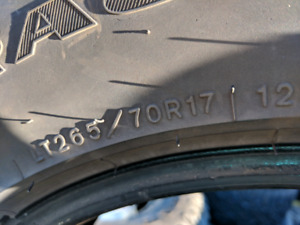 Good year dura trac tires$ 450. or best offer