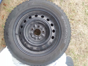4 WINTER TYRE WITH RIM  FOR 205/55/R16