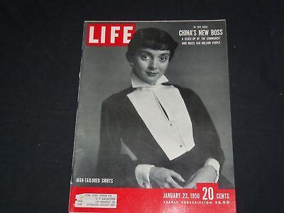1950 JANUARY 23 LIFE MAGAZINE - MAN-TAILORED SHIRTS IN FASHION - L 686