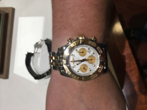 Two Tone Breitling Chronomat 41MM SS & 18 Ct Gold For Sale.