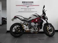 14 REG MV AGUSTA BRUTALE 800 IN SILVER IMMACULATE WITH ABS AND R&G PROTECTION