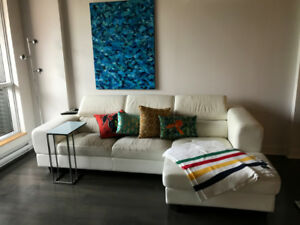 White leather sectional - FREE