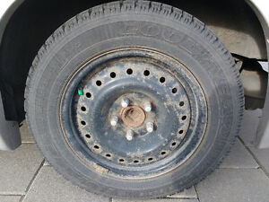 4 Winter tires on steel rims London Ontario image 3