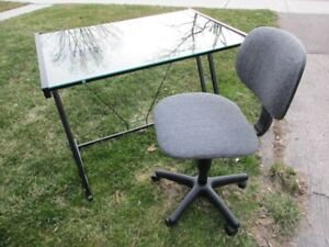 GLASS & METAL small DESK  * Free Delivery In Argyle area