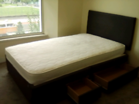 Double Bed + Mattress - Good Condition