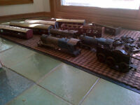 Antique model trains