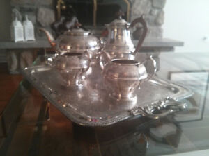 Tea and coffee silver plated set