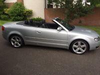 2003 Audi A4 convertible 11 months MOT may p/ex swap x5 Mercedes BMW