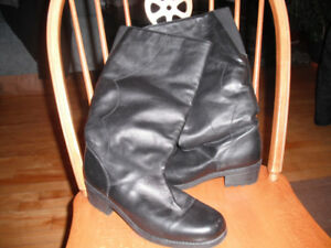 Woman's Long Leather Winter Boots
