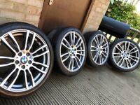 "Genuine BMW 3 4 Series 19"" 403 M Sport Alloy Wheels & Tyres F30 F31 F32 F33 F34 F36 E90 E92"