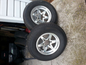 4 15in. tires with 6 bolt rims for travel trailer