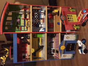 Fire fighter and police play house
