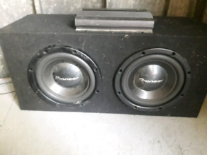12 inch subs and amp .