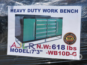 New Heavy Duty Steel Storage Work Bench Contractor Grade
