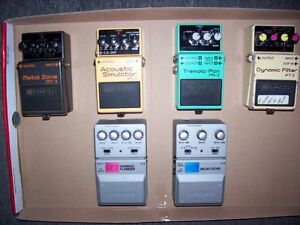 Various Boss and Ibenez Guitar pedals starting at $60.00