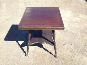 nice antique lamp table walnut with eagle claw feet